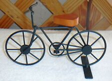 Miniature Doll Bicycle~Black Metal-Wood Seat~Stationary~Great For Display