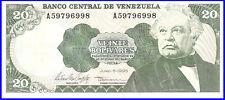 Venezuela UNC Note 20 Bolivares Bs June 1995 P-63e Prefix A8