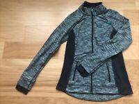Tangerine Women's Full Zip Running Athletic Yoga Jacket Size Small Blue Heather