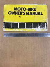 Yamaha Motobike Moto-Bike Owners Manual 1975