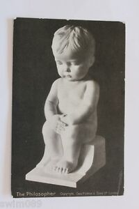 Vintage 1918 postcard 'The Philosopher' by Geo Pulman & Sons Ltd, London.