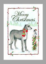 Scottish Deerhound Christmas Cards, Box of 16 Cards & 16 Envelopes