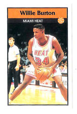Willie Burton 1992-93 Miami Heat Basketball Italian Panni Sticker card