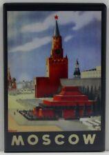 "Moscow USSR Travel Poster 2"" X 3"" Fridge / Locker Magnet. Russia"