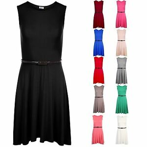 Girls Skater Dress Kids Party Dresses Belted New Age  5/6 TO 13 Years CDSL
