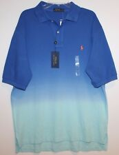 Polo Ralph Lauren Big and Tall Mens Blue Dip Dyed Polo Shirt NWT $125 LT