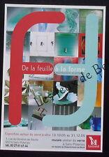 Publicité Exposition Sars Poteries De la feuille à la forme verre à vitre 2005