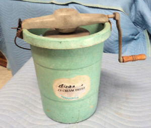 Vintage Ice Cream Maker: Alaska Hostess Crank 1950-60s; Slight Rust; Working