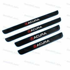 4PCS Blue Border Rubber Car Door Scuff Sill Cover Panel Step Protector For Acura