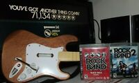 with DONGLE CUSTOM PS3 Rock Band FENDER Guitar CONTROLLER & 2 Game BUNDLE