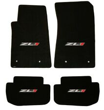 NEW! BLACK FLOOR MATS 2010-2015 Camaro Embroidered ZL1 Logo ALL 4 mats, 4 pc SET