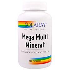 Solaray - Mega Multi Mineral, 200 Capsules