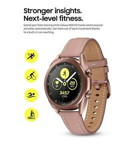 Samsung Galaxy Watch3 SM-R855 41mm Stainless Steel Case with Leather Strap - My…