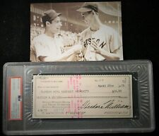 Vintage 1975 Ted Williams Signed Personal Check PSA/DNA Gem Mint 10