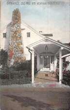 Bordentown New Jersey Old Mill Inn Entrance Antique Postcard K53215