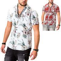 Jack & Jones Herren Kurzarmhemd Hawaiihemd Hemd Herrenhemd Freizeithemd SALE %