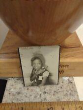 Pretty African american little girl photobooth photo