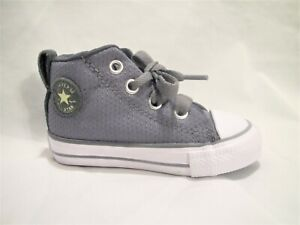 New Gray Converse All Star Chuck Taylor Hi Top Size 4 Toddler Infant Boys Shoes