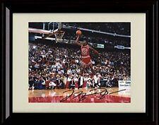4c187594773c Framed Michael Jordan Dunk Contest Autograph Replica Print - Chicago Bulls