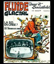 FLUIDE GLACIAL N° 19 (année 1977) SOLÉ BINET GOOSSENS GOTLIB ALEXIS CABANES