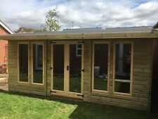 14x10 Hereford summerhouse and 2ft porch shed workshop garden building man cave