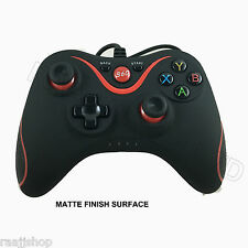 MATTE BLACK BRAND NEW USB WIRED CONTROLLER FOR MICROSOFT XBOX 360 PC WINDOWS