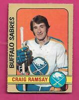 1972-73 OPC # 262 SABRES CRAIG RAMSAY   HIGH # ROOKIE EX+  CARD (INV# D5840)