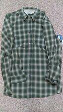 New Men's OUTDOOR LIFE Green Tan Gray Plaid Button Shirt Sz XXLT Big & Tall NWT