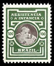 Brazil Charity Stamp - Assistance for Infants - 100 (reis?)