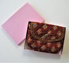 Valdrome small red shoulder Bag, 7 x 6, Pierre Deux style, Made in France, boxed