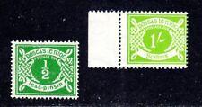 IRELAND STAMPS #J5 + J14 — (2) POSTAGE DUES 1943 MINT