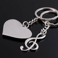 Love Couple Music Note Pendant Key Ring Key Chain Keyring Charm Car Keychain