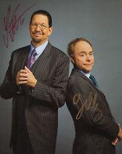 Penn+Teller autographed 8x10 photo Las Vegas Magicians both signed