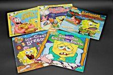 Five paperback books Sponge Bob Squarepants Nickelodeon fun in reading