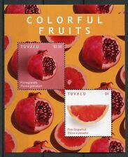 Tuvalu 2018 MNH Colorful Fruits Pomegranate Grapefruit 2v S/S Nature Stamps