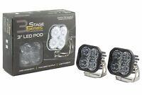 "SS3 3"" SAE/DOT White Pro LED Pod (pair) Driving Optic Diode Dynamics"