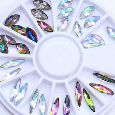 Chameleon AB Color Marquise Rhinestones Flat 3D Nail Art Decoration in Wheel DIY