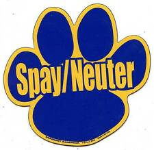 SPAY NEUTER Paw Car Ribbon Magnet support dog cat animal pet