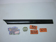 97-01 CATERA PASSENGER RIGHT BACK REAR DOOR PANEL MOLDING BLACK CAR SIDE TRIM RR