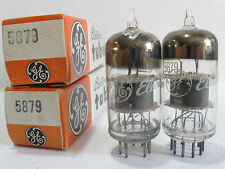 2 matched RCA/GE 5879 tubes - Gray Plate, 2Mica, Top O Getter (TV-7B @ 45, 47)
