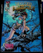 "Lara Croft Tomb Raider # 2 Tower Records ""Santa"" Gold Foil Limited Edition Comic"