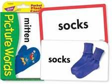 TREND kids childrens PICTURE WORDS Pocket Flash Cards