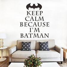 Keep Calm because nel Batman Parete Tatuaggio Muro Wallpaper gioielli 69 CM x 58 cm