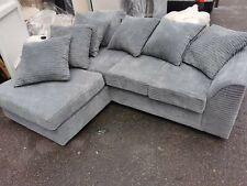 Ex-Display Grey Fabric Corner Sofa Set