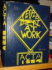 ACTA 1984 Montrose Area High School Yearbook, Pennsylvania, People At Work