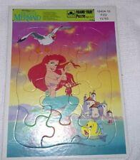 Vintage Walt Disney's Little Mermaid Tray Puzzle Golden