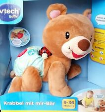 Vtech Krabbel mit mir - Bär Krabbelbär Kuschelbär Plüschtier Motorikspielzeug