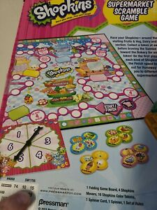 Shopkins Supermarket Scramble Board Game Replacement Parts NEW SEALED