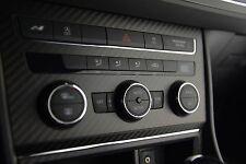 Seat Leon 5F Carbon  Blende Klima Klimabedienteil Echtcarbon