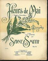 """"""" Fleurs de Mai """"~ Mazurka ~ Sydney Smith, alte Noten, übergroß"""